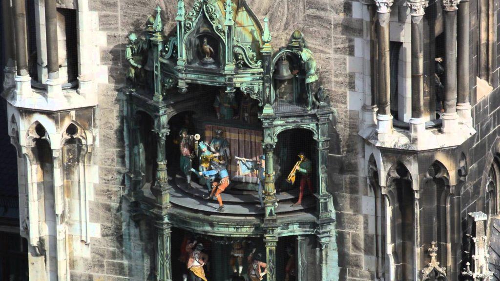 Rathaus-Glockenspiel at Marianplatz. Munich, Germany